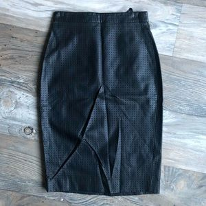 Banana Republic High Waisted Faux Leather Skirt